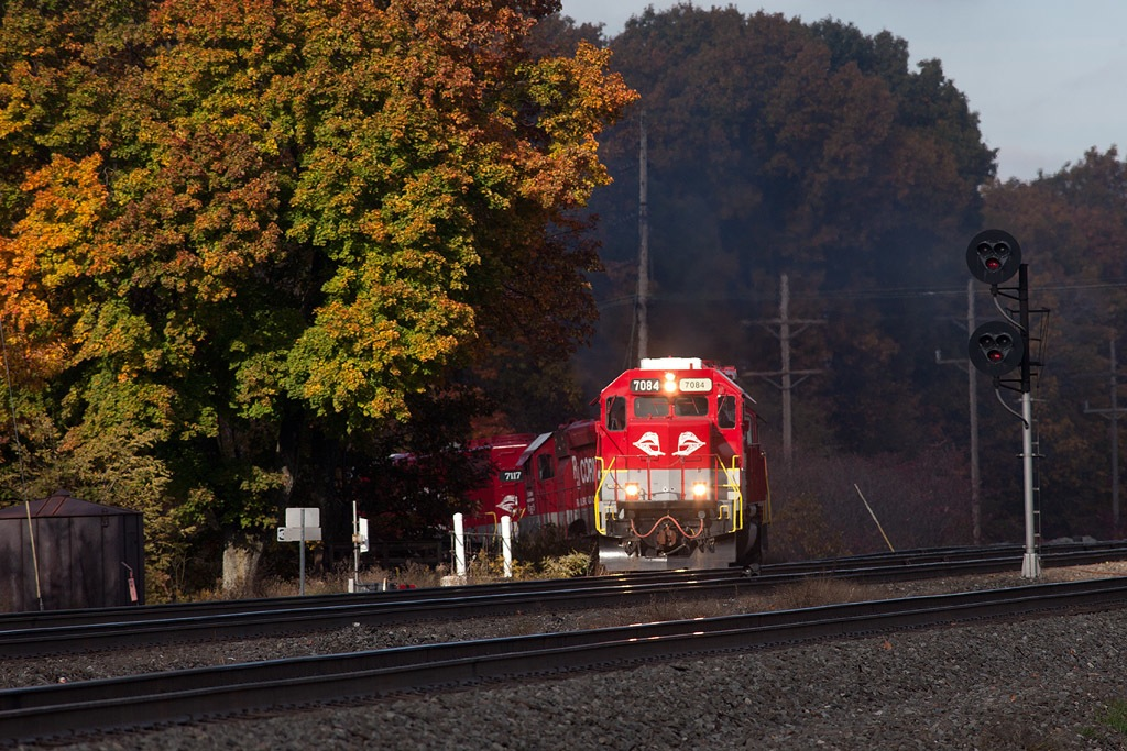 RJCP 7084 SD40-2 leading RJC-3 Fallen Timber coal off of the Irvona Secondary at CP-MO